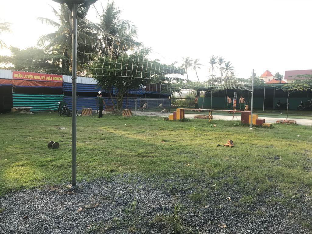 không gian huấn luyện chó